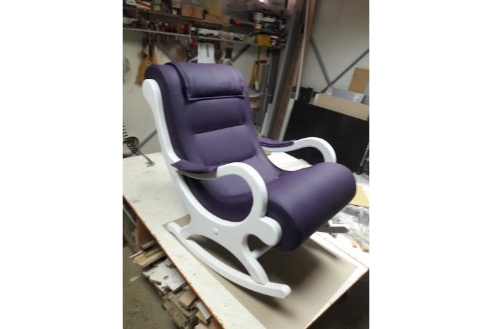 Fotelja na Ljuljanje Belo Ljubičasta